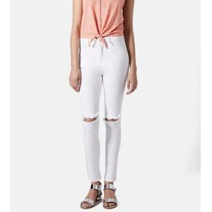 TOPSHOP White High Waisted Jamie Skinny Jeans